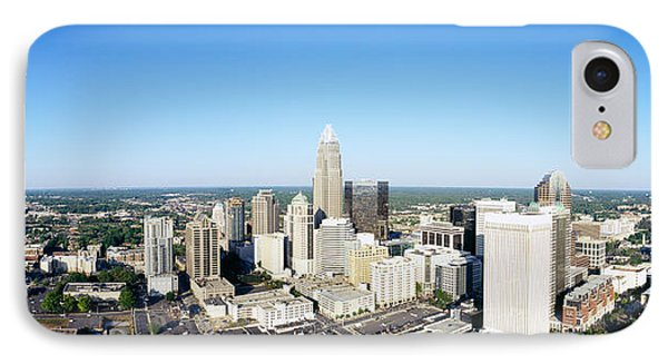 Aerial View Of A City, Charlotte IPhone Case by Panoramic Images