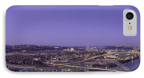 Aerial View Of A City, Pittsburgh IPhone Case by Panoramic Images