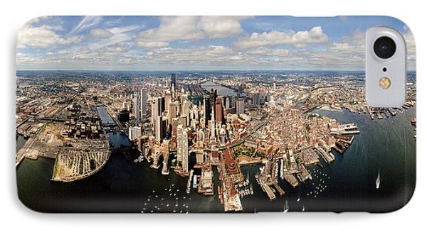 Aerial View Of A Cityscape, Boston IPhone Case by Panoramic Images