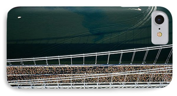 Aerial View Of A Crowd Running IPhone Case by Panoramic Images