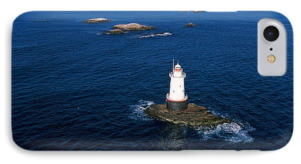 Aerial View Of A Light House, Sakonnet IPhone Case by Panoramic Images