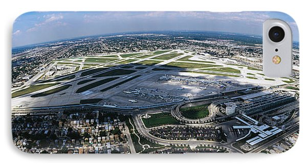 Aerial View Of An Airport, Midway IPhone Case by Panoramic Images