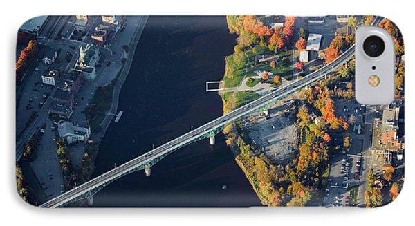 Aerial View Of Bridge To Augusta, Maine IPhone Case