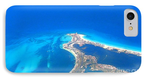 IPhone Case featuring the photograph Aerial View Of Cancun by Patti Whitten
