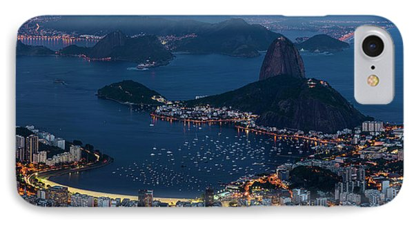 Aerial View Of City From Christ IPhone Case by Panoramic Images