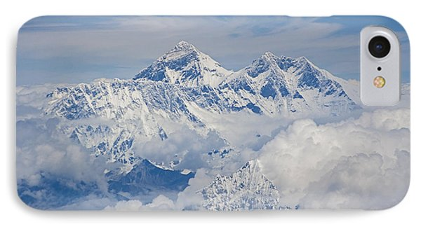 Aerial View Of Mount Everest IPhone 7 Case by Hitendra SINKAR