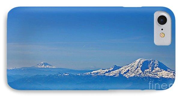 Aerial View Of Mount Rainier Volcano Art Prints IPhone Case
