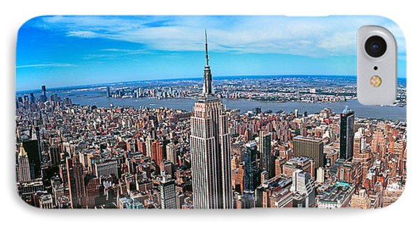 Aerial View Of New York City, New York IPhone Case by Panoramic Images