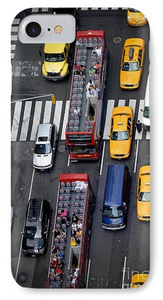 Aerial View Of New York City Traffic Phone Case by Amy Cicconi
