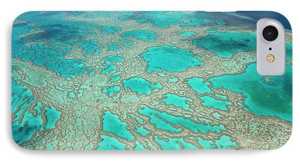 Aerial View Of The Great Barrier Reef IPhone Case by Peter Adams