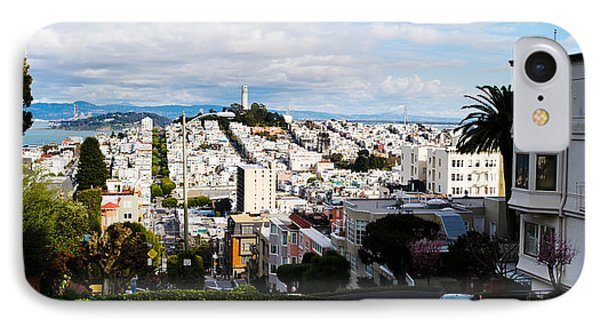 Aerial View Of The Lombard Street, Coit IPhone Case by Panoramic Images