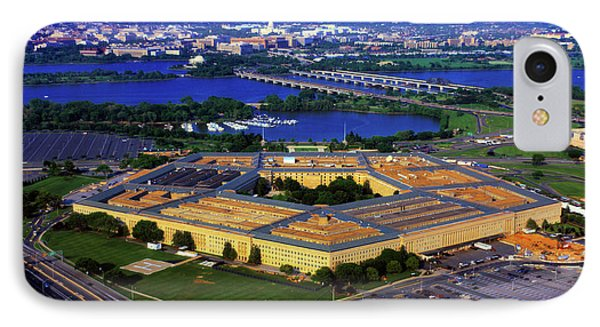 Aerial View Of The Pentagon At Dusk IPhone Case