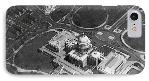 Aerial View Of U.s. Capitol IPhone 7 Case by Underwood Archives