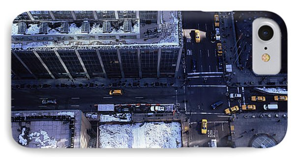 Aerial View Of Vehicles On The Road IPhone Case by Panoramic Images