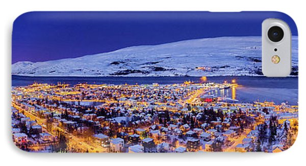 Aerial View - Wintertime In Akureyri IPhone Case