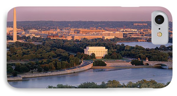 Aerial, Washington Dc, District Of IPhone Case by Panoramic Images