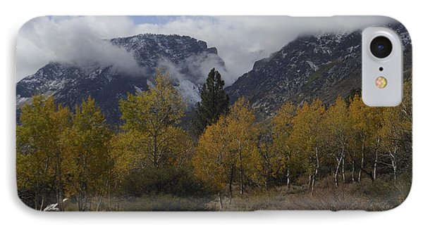 Aerie Crag And Aspen Trees IPhone Case