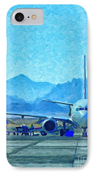 Aeroplane At Airport IPhone Case