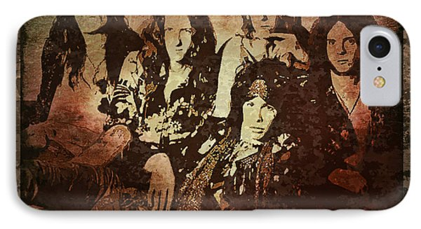 Aerosmith - Back In The Saddle IPhone Case by Absinthe Art By Michelle LeAnn Scott