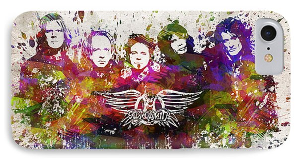 Aerosmith In Color IPhone 7 Case by Aged Pixel