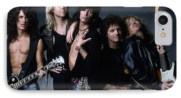 Aerosmith - Let The Music Do The Talking 1980s IPhone Case by Epic Rights
