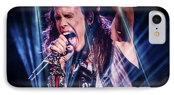 Aerosmith Steven Tyler Singing In Concert IPhone 7 Case by Jani Bryson