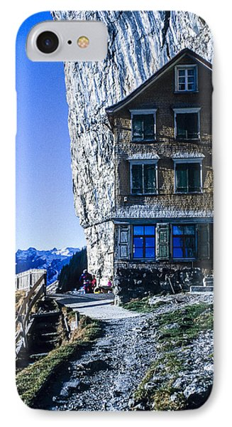 Aescher Hotel IPhone Case by Tina Manley