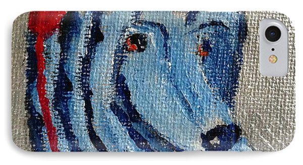 IPhone Case featuring the painting Afghan Hound Christmas by Victoria Lakes