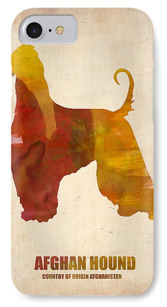 Afghan Hound Poster IPhone Case by Naxart Studio