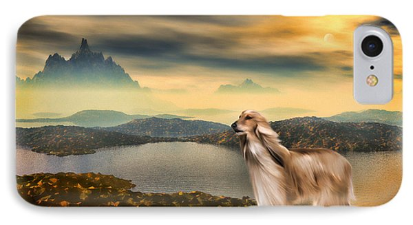 IPhone Case featuring the painting Afghan Hound by Tyler Robbins