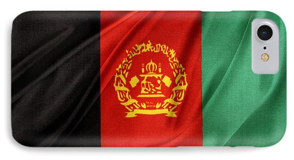 Afghanistan Flag IPhone Case by Les Cunliffe