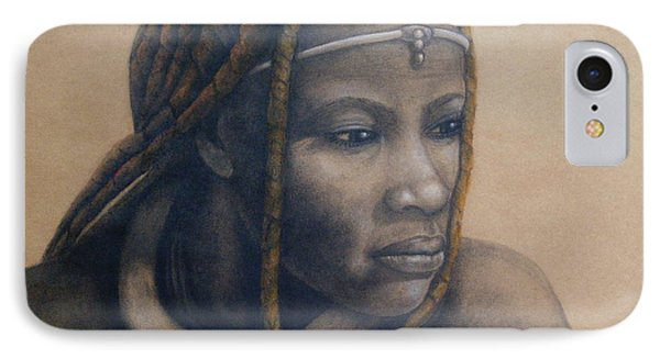 Afican Woman IPhone Case by James McAdams