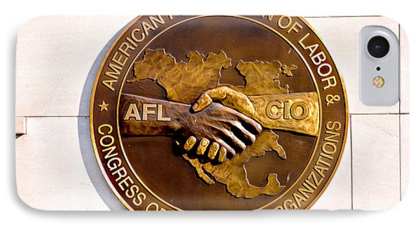 Afl Cio IPhone Case by Greg Fortier