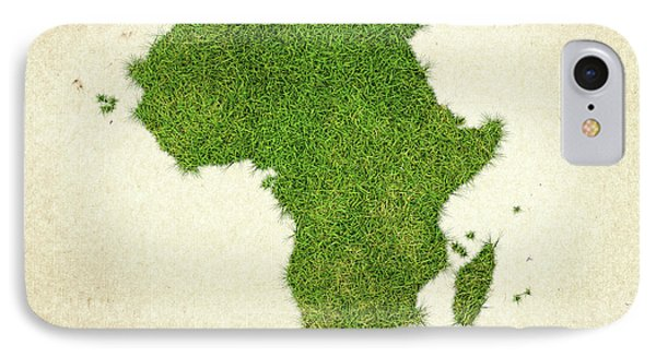 Africa Grass Map IPhone Case by Aged Pixel