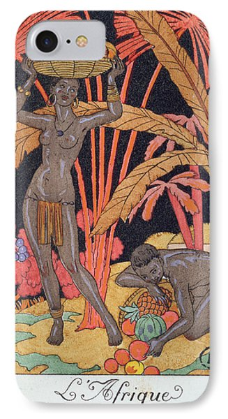 'africa' Illustration For A Calendar For 1921 IPhone Case by Georges Barbier