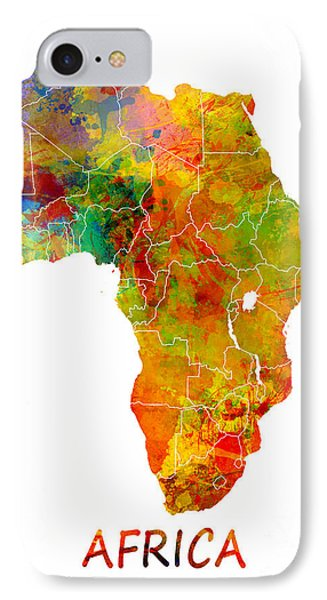 Africa Map Colored IPhone Case