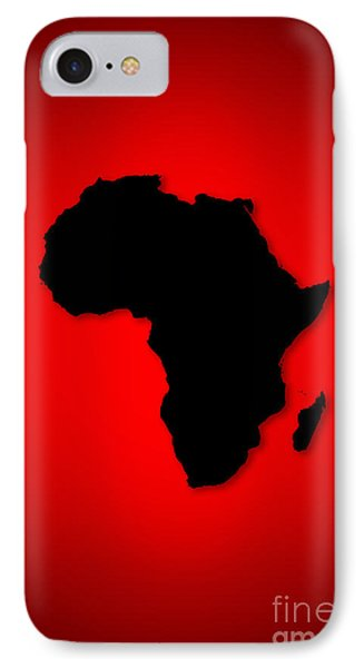 IPhone Case featuring the digital art Africa  by Mohamed Elkhamisy