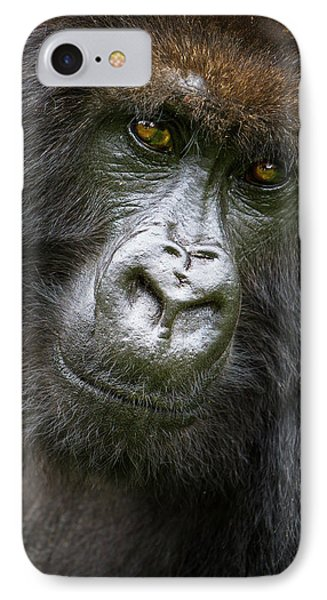 Africa Rwanda Female Mountain Gorilla IPhone 7 Case by Ralph H. Bendjebar