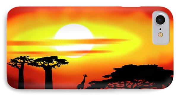 Africa Sunset IPhone Case