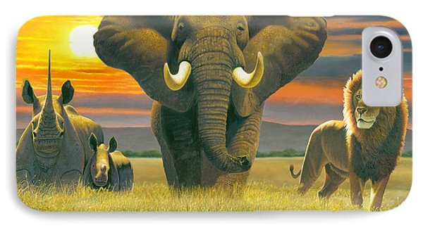 Africa Triptych Variant Phone Case by Chris Heitt