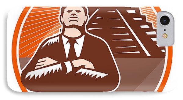 African American Businessman Protect Pyramid Phone Case by Aloysius Patrimonio