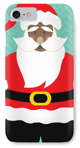 African American Santa Claus IPhone Case by Linda Woods