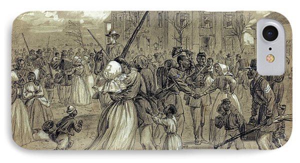 African American Soldiers Return Home From War - 1866 Phone Case by Daniel Hagerman