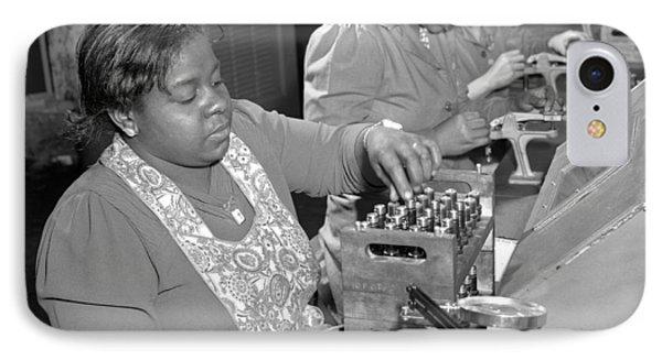 African American War Workers IPhone Case by Ann Rosener FSA