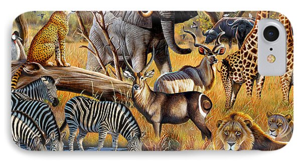 African Collage IPhone Case