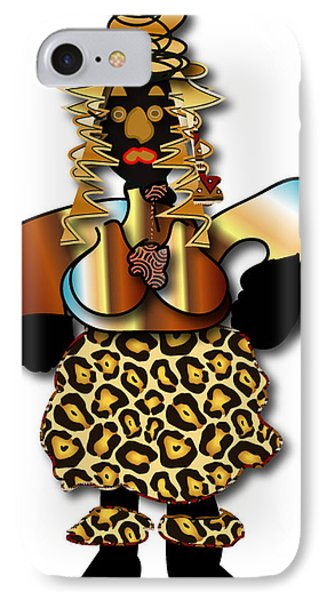 IPhone Case featuring the digital art African Dancer 2 by Marvin Blaine