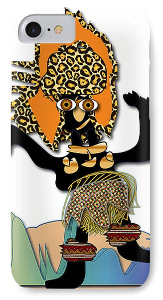 IPhone Case featuring the digital art African Dancer 6 by Marvin Blaine