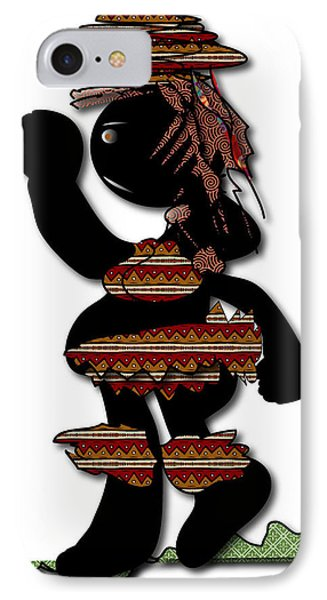 IPhone Case featuring the digital art African Dancer 7 by Marvin Blaine