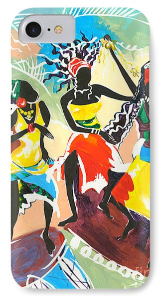 African Dancers No. 4 Phone Case by Elisabeta Hermann