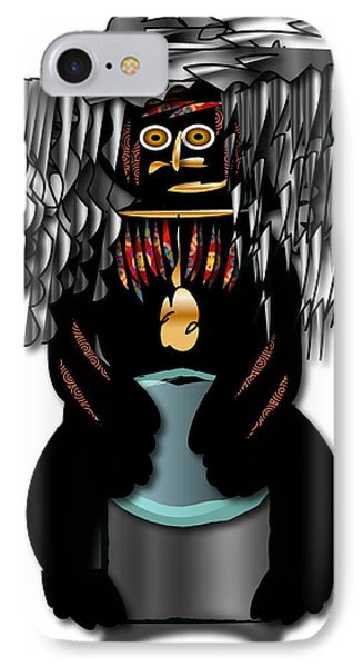 IPhone Case featuring the digital art African Drummer 2 by Marvin Blaine